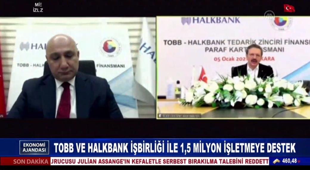 TOBB ve Halkbank işbirliği ile 1,5 milyon işletmeye destek
