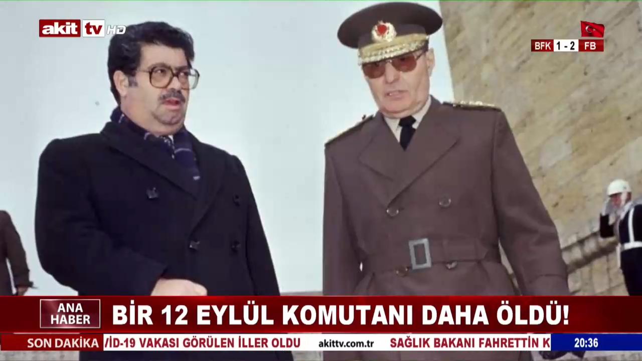 Bir 12 Eylül komutanı daha öldü
