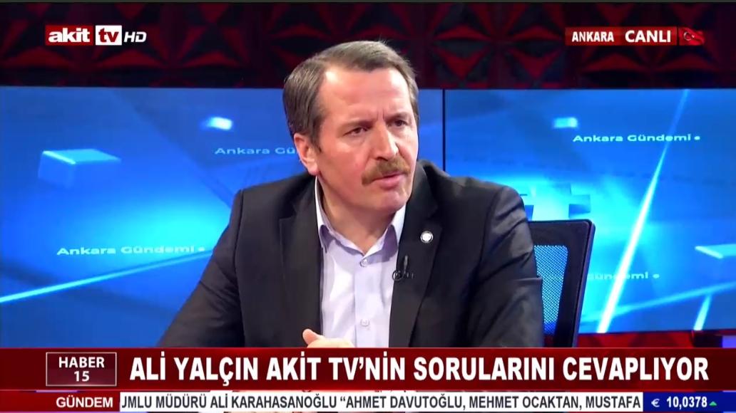 Ali Yalçın Akit TV'nin sorularını cevaplıyor