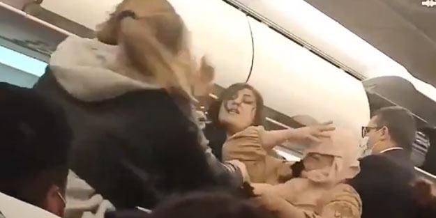 İstanbul uçağındaki kadınların saç başa kavgası dünya basınında