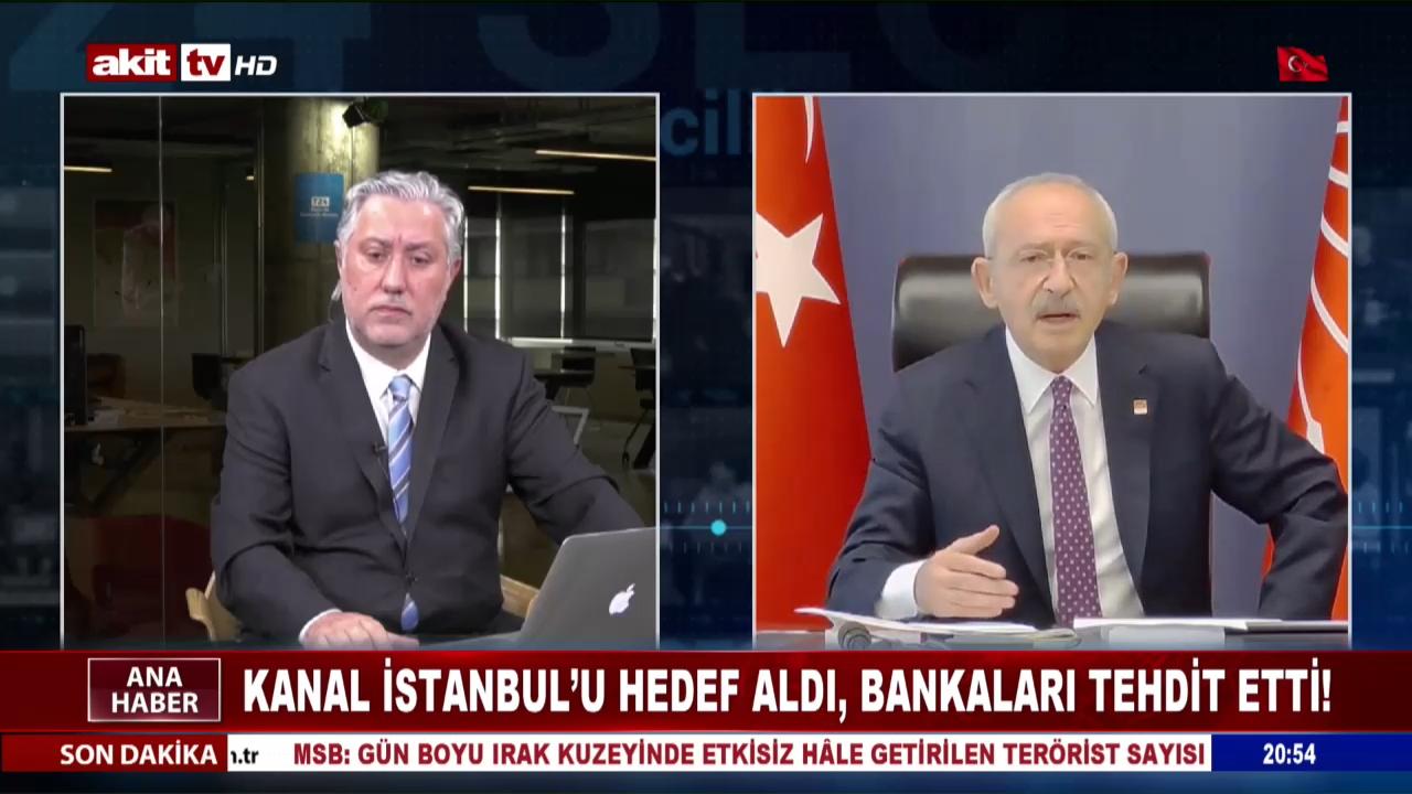 Kanal İstanbul'u Hedef Aldı, Bankaları Tehdit Etti