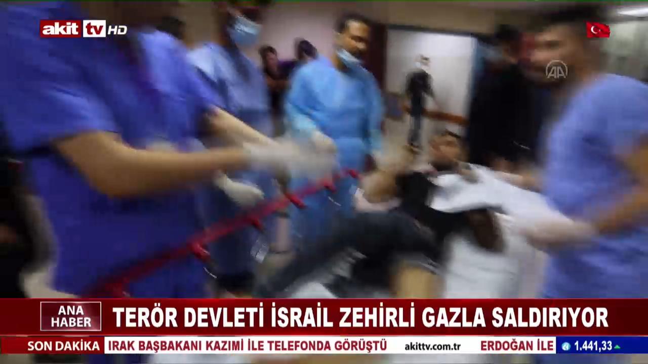 Terör devleti İsrail zehirli gaz ile saldırıyor