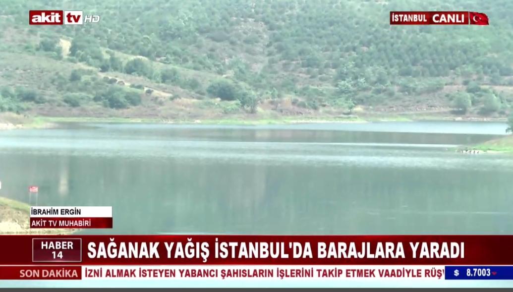 Sağanak yağış İstanbul'da barajlara yaradı
