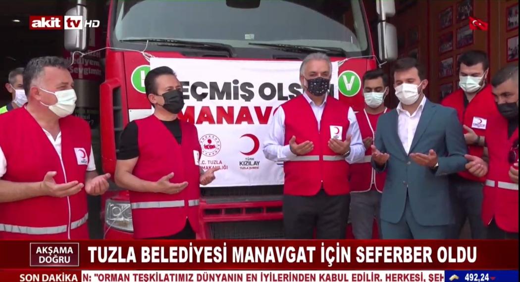 Tuzla Belediyesi Manavgat için seferber oldu