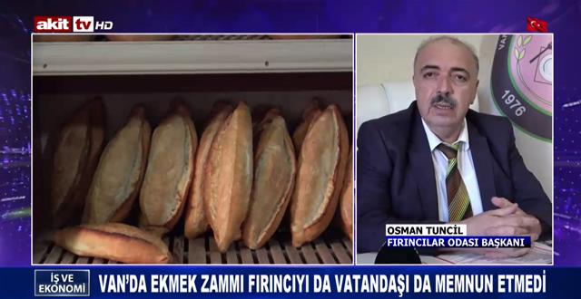 Van'da ekmek zammı fırıncıyı da vatandaşı da memnun etmedi